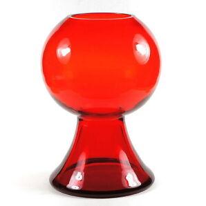 """CARI ZALLONI 70s-Vase WMF! 25cm! Rubinrot/rot """"Halmamännchen""""  Germany, Vintage!"""