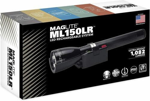 Black Rechargeable Flashlight System Accessories Maglite ML150LR