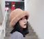New Winter Women British Fur Hats Warm Fashion Thicken Snow Caps Size 56-58CM