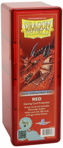Dragon Shield AT20307 Storage Box with 4 compartments Red