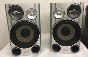 Image Is Loading Sony SS CHPZ9 Bookshelf Full Range Speaker System