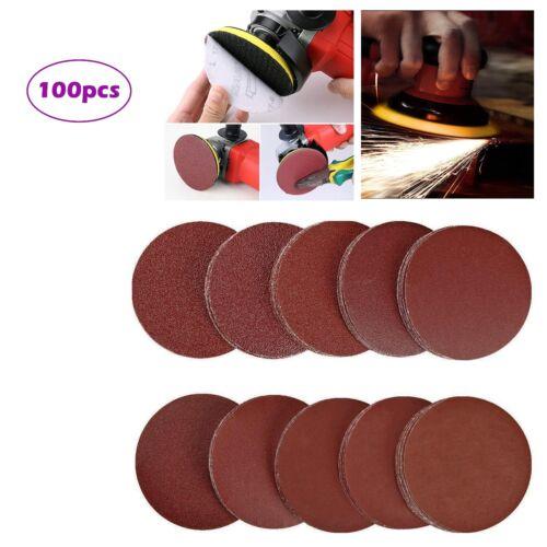 100Pcs 5 Inch Sanding Pad Kit 180//240//320//400//600//800//1000//1200//1500//2000 Grit