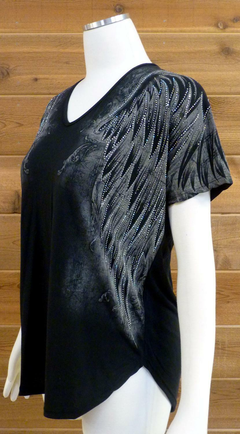 Vocal Wing Top  Wing Design Covers Shoulders, Down Front   - Sz Small S
