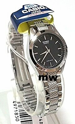 Casio Watch Women's Silver Stainless Steel Analog Quartz Black Dial LTP-1274D-1A