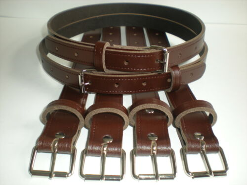 Vintage pram real leather suspension straps in brown