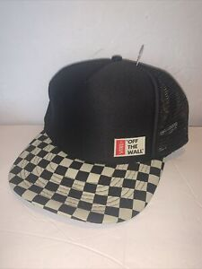 Vintage VANS OFF THE WALL Checkered Snapback Trucker Hat *NWOT*