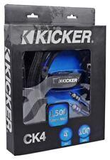 Kicker CK4 4-Gauge 2-Channel Complete 4AWG Car Amplifier Installation Kit