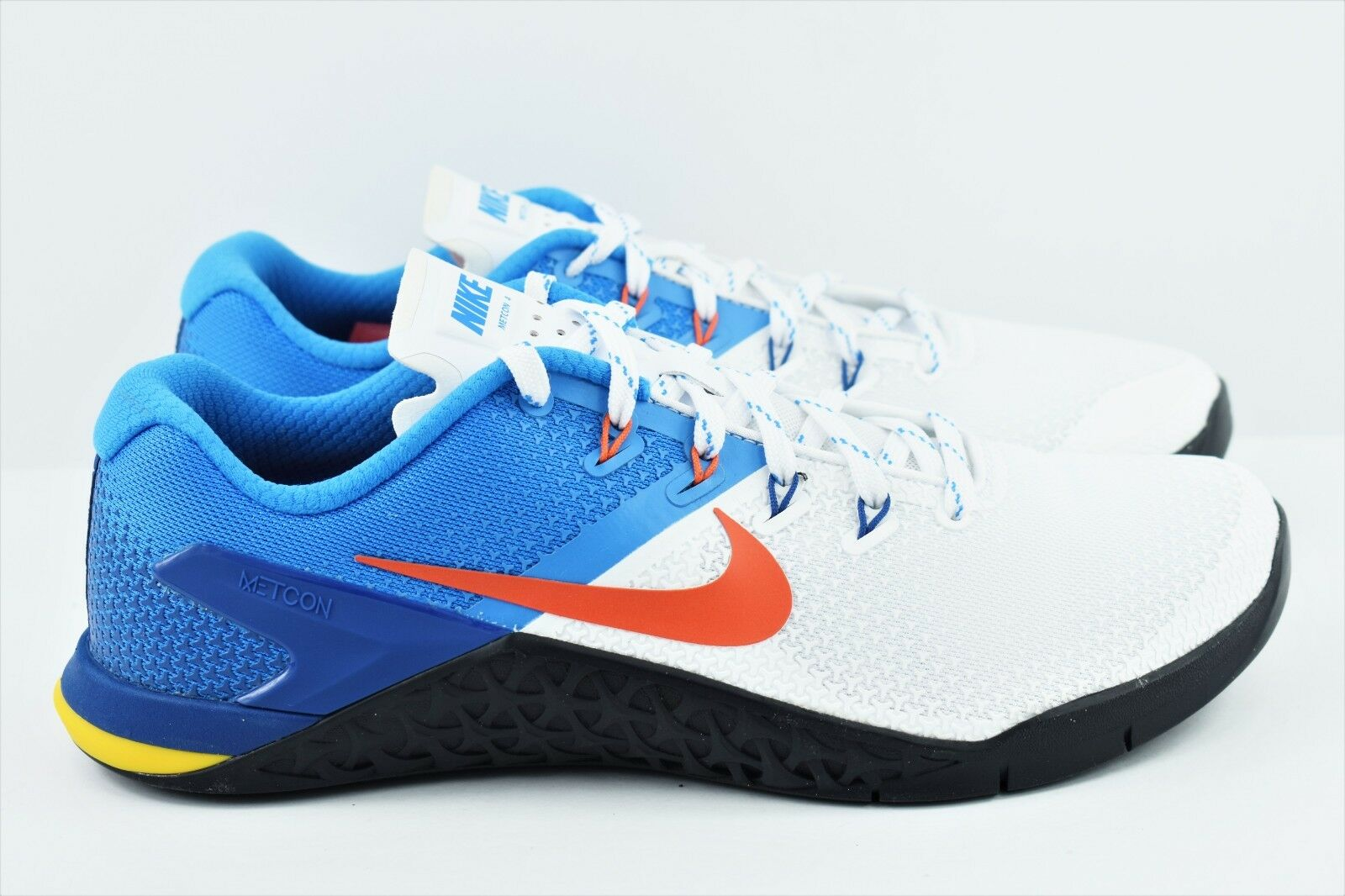 Nike Metcon 4 Mens Size 8 Training Weightlifting shoes AH7453 184 White bluee