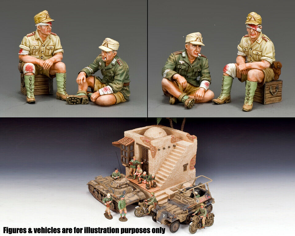 re & Country Africa Korps AK112 WW2 Tedesco Ak Ferito Soldati MIB