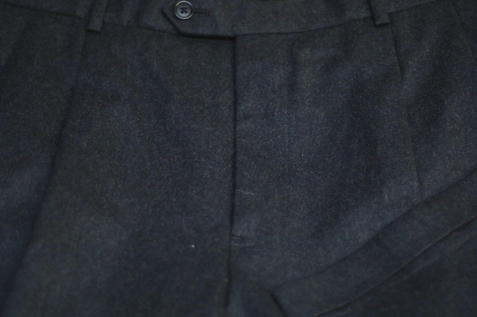 Brooks Bredhers Men's Charcoal Winter Weight Wool Pleated Dress Pants 32 x 30