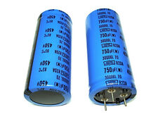 (2) 750uF 450V 82DA NEW Nippon High Voltage 3 lead Tube Amp Amplifier Capacitors