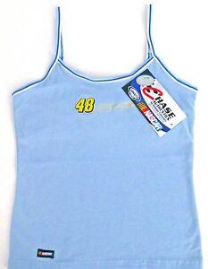 Jimmie Johnson Chase Authentics Tank Top #48 NASCAR Light Blue Women's Sizes