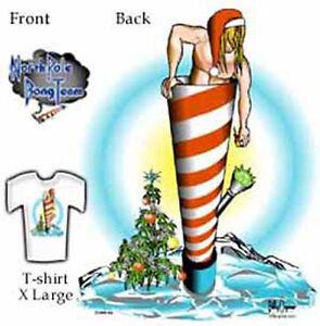 Christmas-North-Pole-Bong-Team-T-shirt-New-XL-short-sleeve
