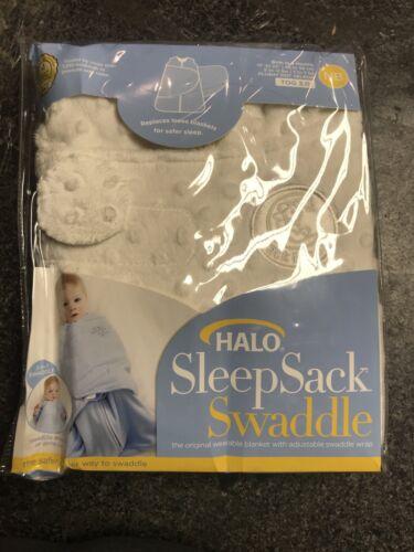 HALO Sleepsack Plushy Dot Velboa Swaddle 0-3 Months