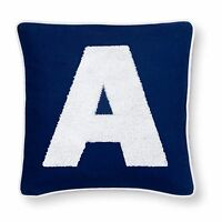 Pillowfort Monogrammed Pillow Sham Cover 16 X 16 Red Blue Lilac