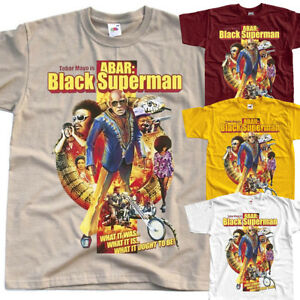 6debcf6f0 Abar, The First Black Superman, poster T SHIRT all sizes S to 5XL | eBay