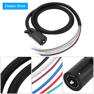 Trailer Cable Cord 7 Way Wire Harness Light Plug RV Truck Boat ...
