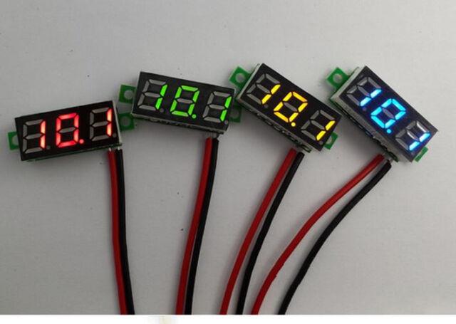 """Mini 0.28"""" DC Digital Voltmeter Panel Mount LED Voltage Volt meter Red 2.50~30V"""