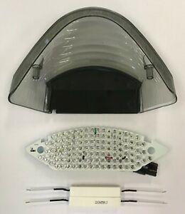 Honda-599-919-Hornet-Smoke-Tail-Light-Lens-LED-Integrated-Signals-SEQUENTIAL