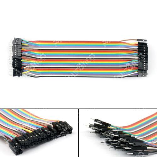 10x 40Pcs Dupont Wire Jumper Cables 20cm M-M//M-F//F-F For Arduino Breadboard BK