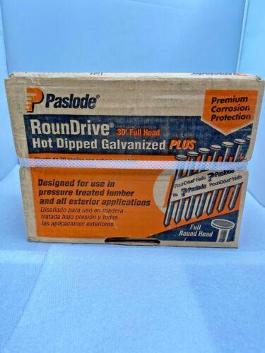 "PASLODE ROUNDRIVE 30 Degree Full Head 3/""x.131 Ring Shank NAILS 2000PC NEW BOX"