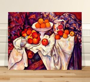 "Paul Cezanne Still Life Fruit ~ FINE ART CANVAS PRINT 24x16"" Impressionist"