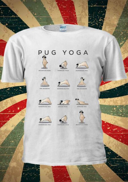 Pug Yoga Dog Funny GYM Training T-shirt Vest Top Men Women Unisex 1969