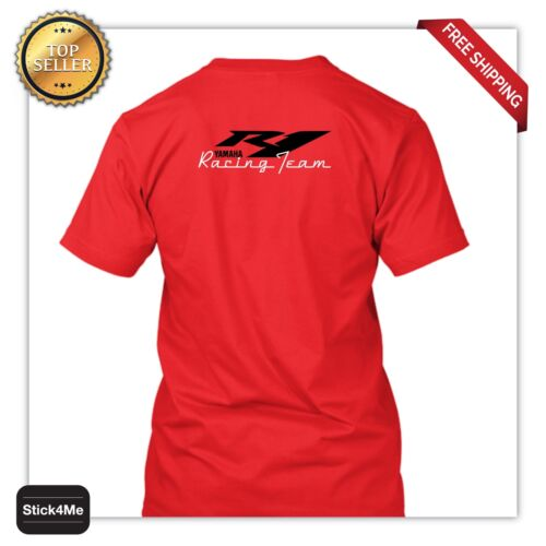 NEW Yamaha R1 RACING TEAM T-shirt HQ printing biker motorcycle T-shirt lover