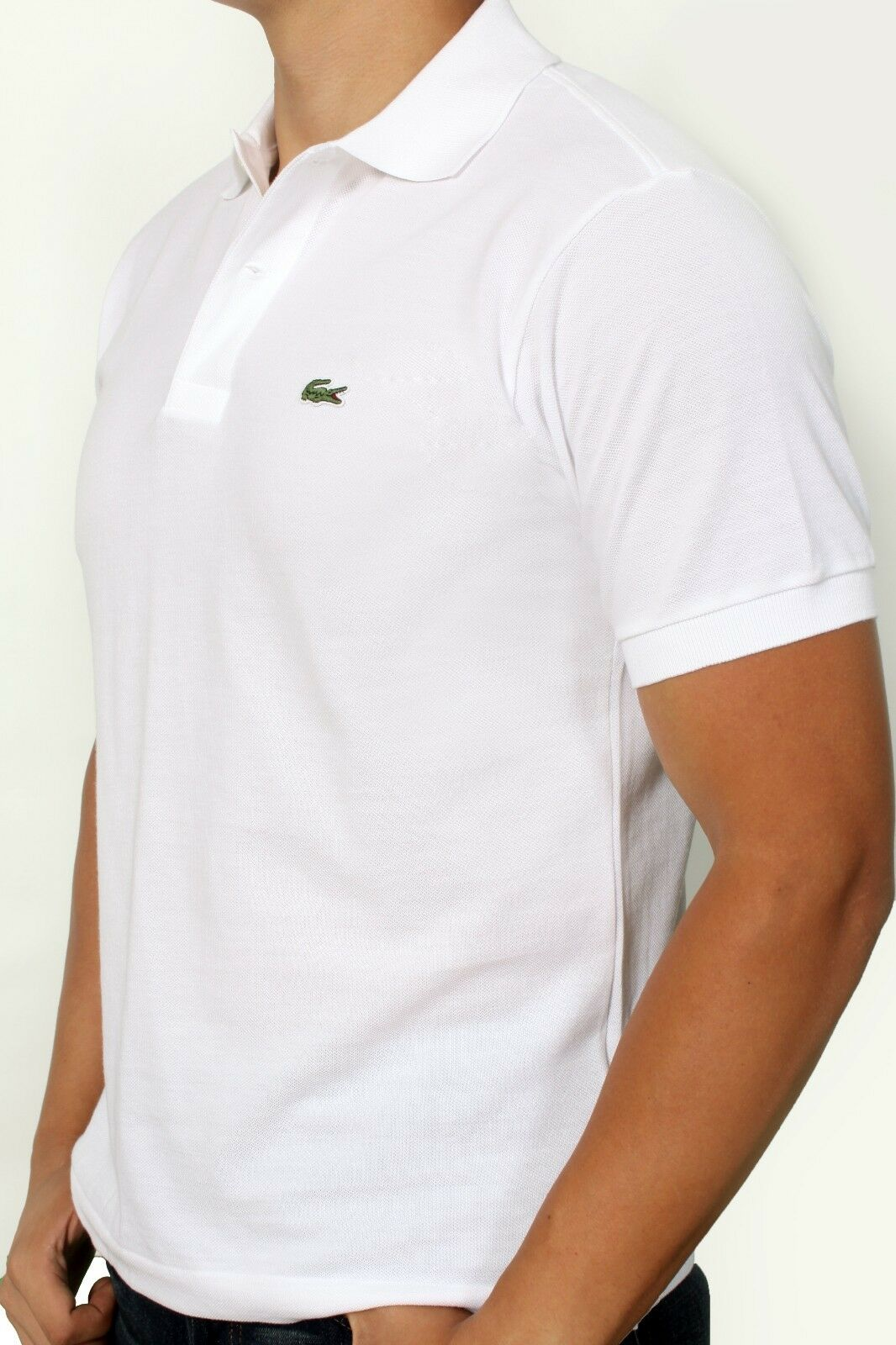 Lacoste Men/'s L!VE Short Sleeve Multi Color Tipped Polo PH9194-51 PRB White