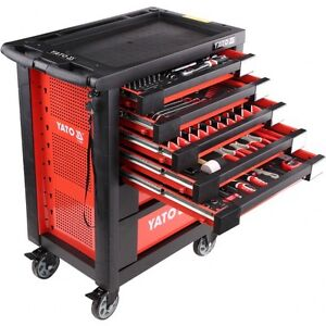 Image Is Loading YATO PROFESSIONAL SERVICE GARAGE TOOL CABINET WITH TOOLS