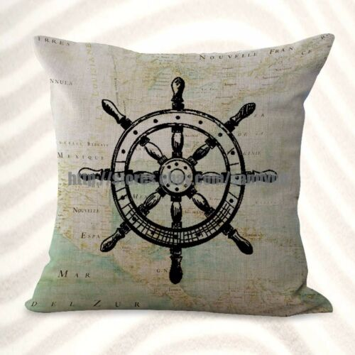 US Seller-4pcs cushion covers boat anchor compass pillow bulk lot