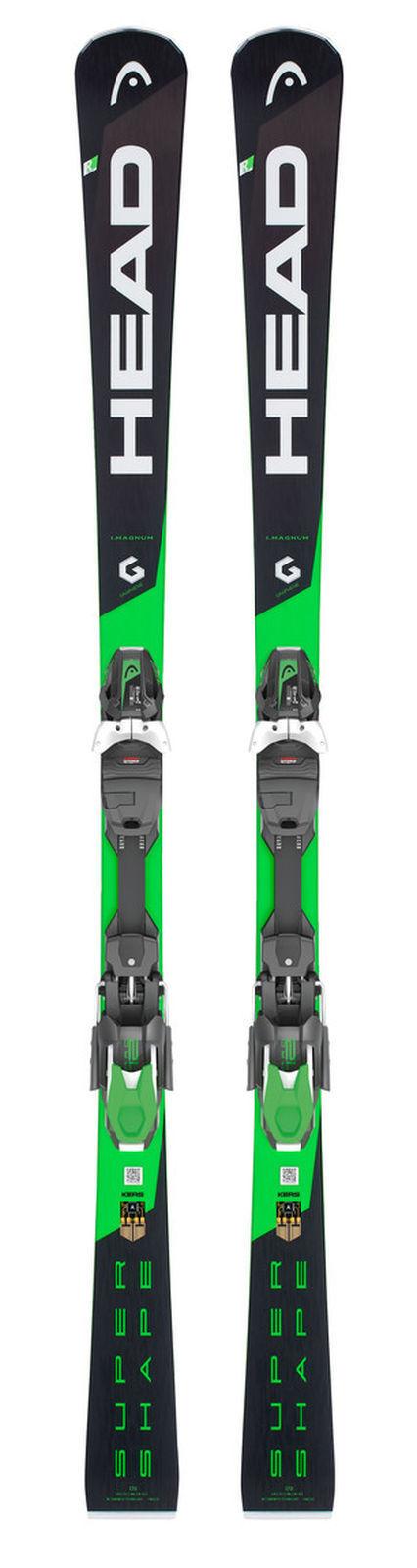 Head Hombre Esquí Esquí Esquí I. Supershape Magnum Negro verde + Head Prd 12 GW Fijación 5c1a7f