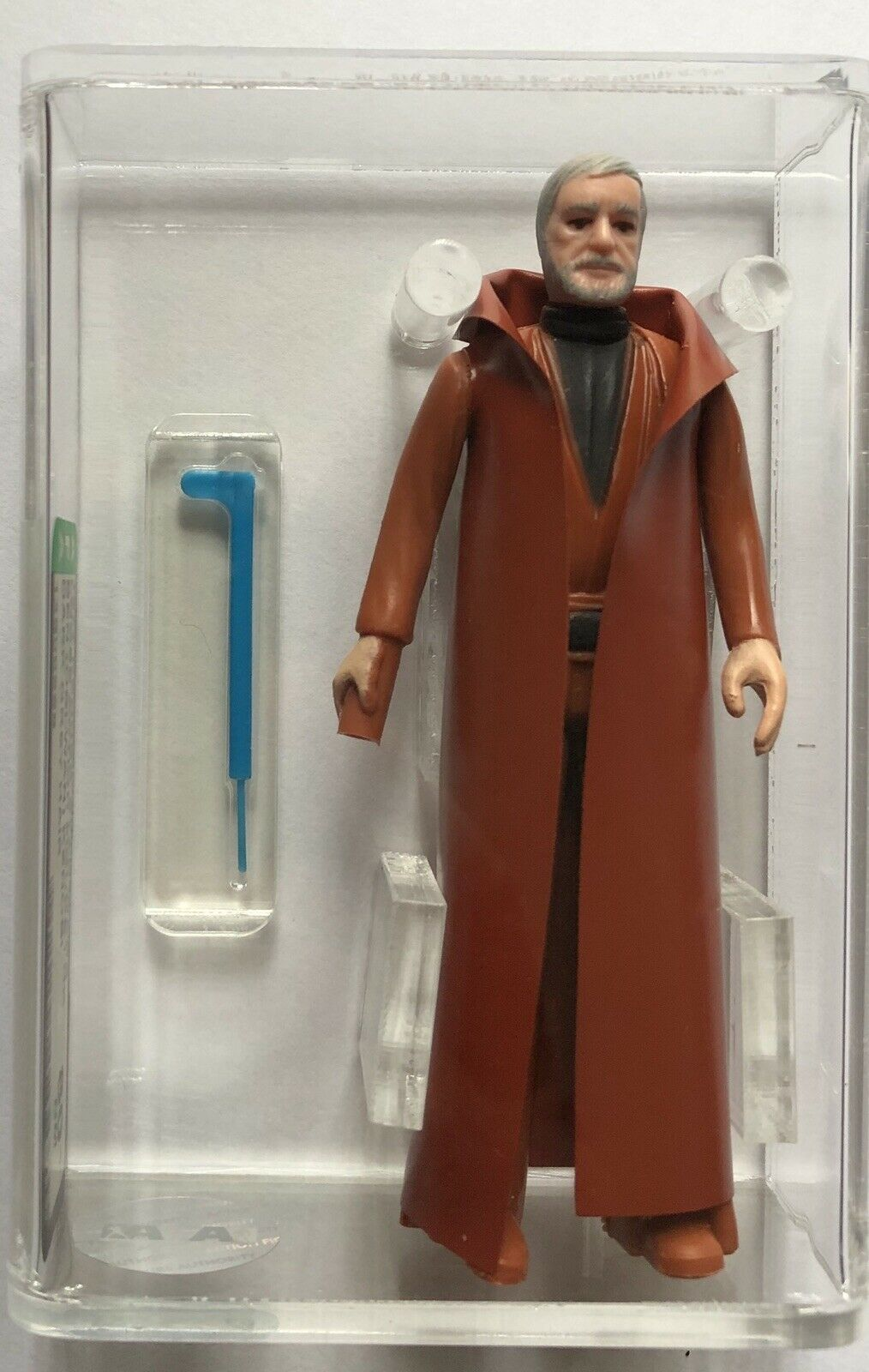 1977 LOOSE VINTAGE STAR WARS BEN KENOBI DARK GREY HAIR AFA 80+ HK