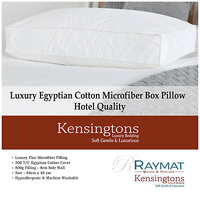 Microfibre Luxury Hotel Quality Bed Pillow Pillows Hollowfibre Egyptian Cotton