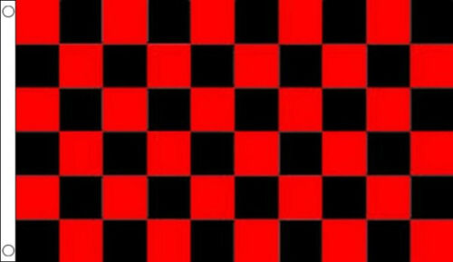 RED and BLACK CHECKERED FLAG 5' x 3' Check South Down County GAA Football