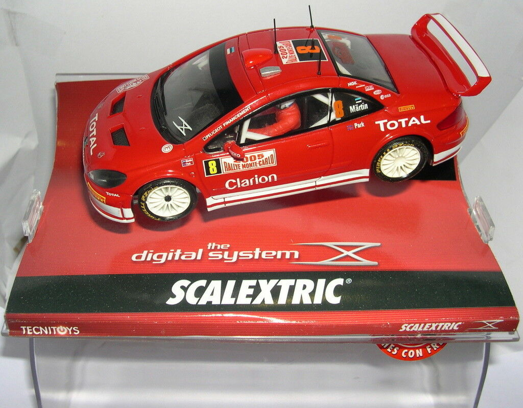 Scalkextric Digital Syst 65533;65533; me 1308 Peugeot 307 WRC rallye Monte billo 2005 Mkonst