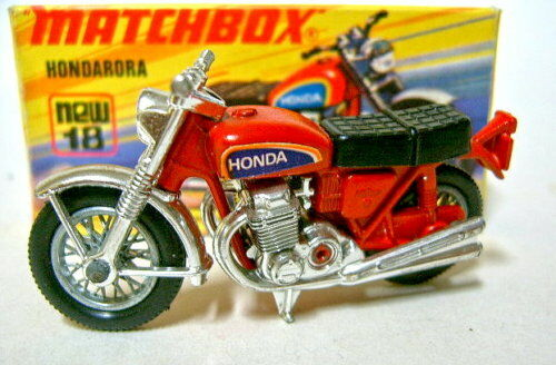 Matchbox SF Nr.18B Hondarora verchromte Vorderradgabel top in Box