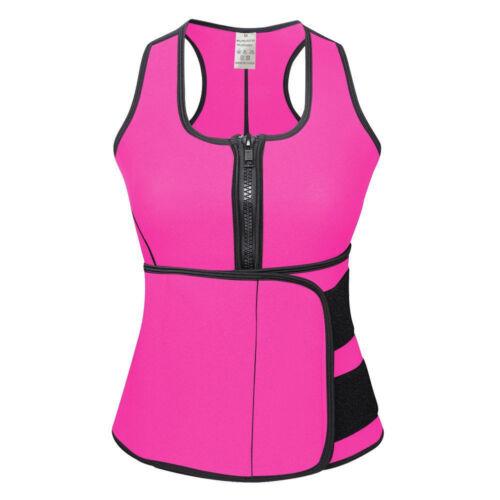Adjustable Womens Hot Sweat Sauna Waist Trainer Vest Neoprene Tank Body Shaper