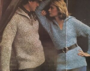 FL28-Knitting-Pattern-His-amp-Hers-Jumpers-Size-options-32-42-034-chest