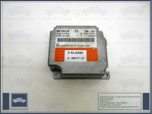 Mercedes Benz C-Klasse W203 Original Airbag Steuergerät A 2038207385