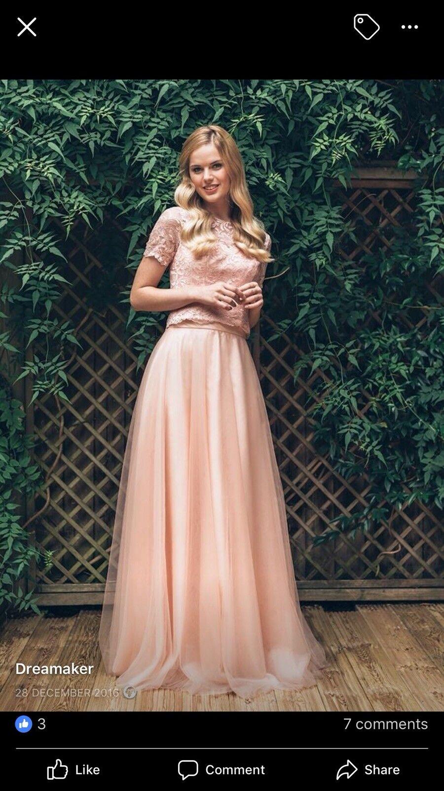 Genuine Designer Angel B demoiselle d'honneur bal Mère de Mariée Bal 2 pieceTaille 18