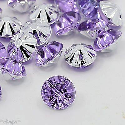 10 lila Acryl Stass Kristall Knöpfe elegant Bestseller 13 mm