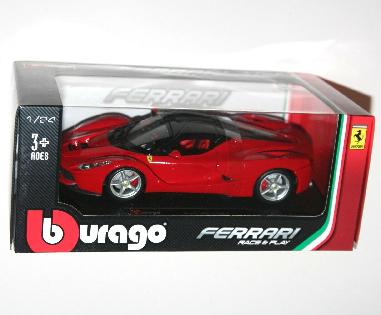 Burago - FERRARI LAFERRARI (Red) - Die Cast Model - Scale 1 24
