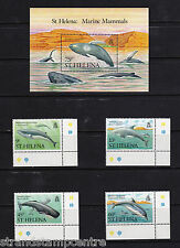 St. Helena - 1987 mamíferos marinos-U/M-SG 509-12 + MS513