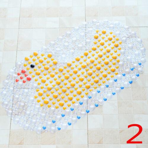 Practical Cartoon Safe PVC Shower Rug Non Slip Pad Bathtub Cushion Bath Mat
