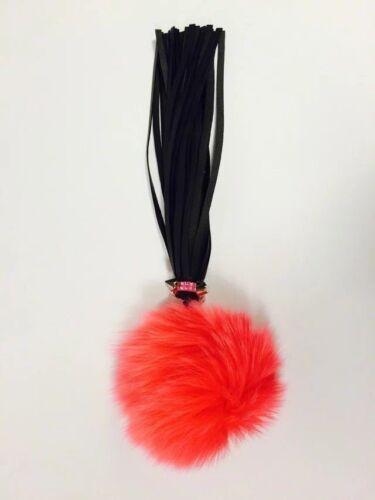 Red Real Fox Fur Ball Pendant Accessories Bag Key Chain Ring Charm Pom Gift