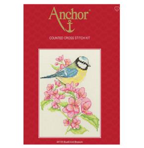 Anchor Starters-puntada cruzada contada Kit-herrerillo Y Flor-AK135
