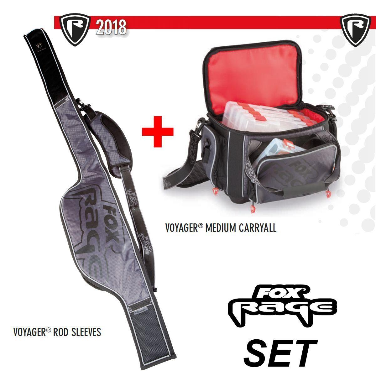 Fox Rage VOYAGER CARRYALL M + ROD Sleeve per canne fino a 130 cm di lunghezza di trasporto
