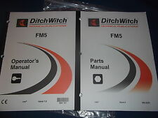 Ditch Witch Fm5 Mud Mixing System Parts Operation Amp Maintenance Book Manual Set