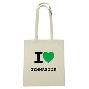 I Love Jute Eco Sac naturel Couleur Environment Gymnastic pqwCx657